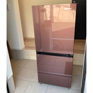 ※送料込 Hisense 冷蔵庫 ブラウン 2ドア /右開きタイプ /134L