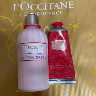 ロクシタン(L'OCCITANE)のロクシタンローズボディ&ハンドクリーム(ボディローション/ミルク)