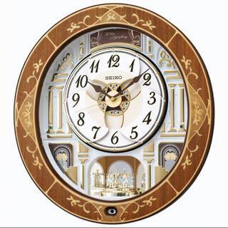 セイコー(SEIKO)のセイコーからくり時計大 電波時計 メロディ豊富高級象嵌掛時計RE580B 新品(掛時計/柱時計)