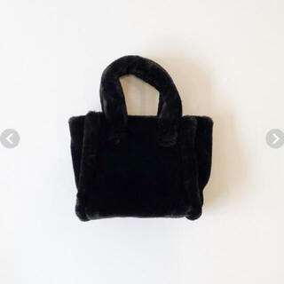 再販完売SeaRoomlynn🐚ECO FUR TOTE BAG ブラック