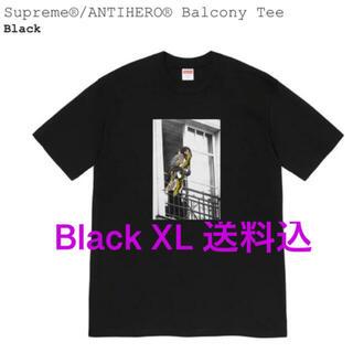 シュプリーム(Supreme)のSupreme®/ANTIHERO® Balcony Tee Black 送料込(Tシャツ/カットソー(半袖/袖なし))