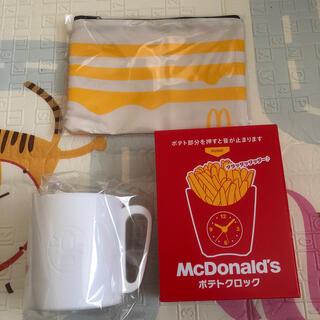 マクドナルド(マクドナルド)のマクドナルド 福袋 マグカップ ポーチ クロック(ノベルティグッズ)