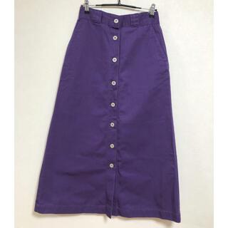 ディッキーズ(Dickies)の美品 DICKIES ディッキーズ フロント ボタン ロングスカート(ロングスカート)