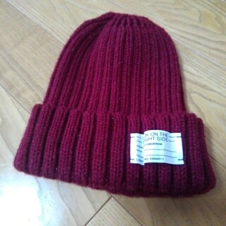 ジーユー(GU)のニット帽 GU バーガンディ(ニット帽/ビーニー)