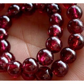 天然石  ロードライトガーネット5㎜珠ブレス♡✨自己肯定力アップ♡✨(ブレスレット/バングル)