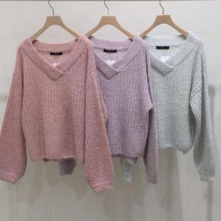 ダブルクローゼット(w closet)のアルパカ混ニット (ニット/セーター)