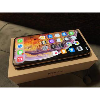 アイフォーン(iPhone)のiPhone XS Max 64GB GOLD 美品 SIMフリー(スマートフォン本体)