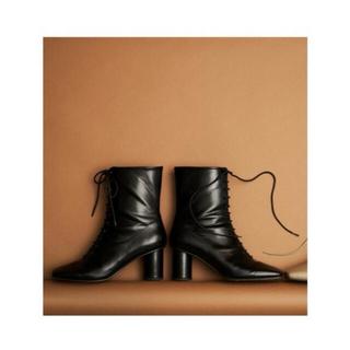 リリーブラウン(Lily Brown)の【値下げ新品】Lily brown スクエアレースアップブーツ(ブーツ)