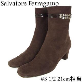 サルヴァトーレフェラガモ(Salvatore Ferragamo)のフェラガモ #3 1/2 21cm相当 サイドジップ 秋冬 ミドル ブーツ(ブーツ)