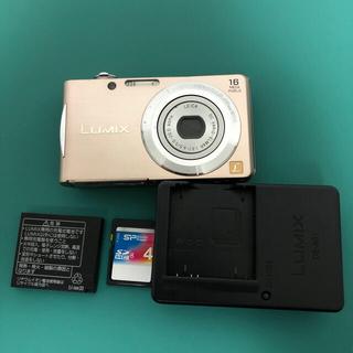 パナソニック(Panasonic)のパナソニック デジタルカメラLUMIX FH5DMC-FH5-Sピンクゴールド (コンパクトデジタルカメラ)