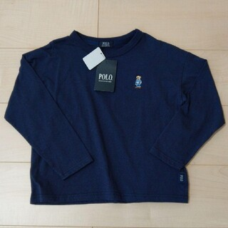 シマムラ(しまむら)の新品未使用タグ付き◆Birthday POLOロンT  ネイビー 120(Tシャツ/カットソー)