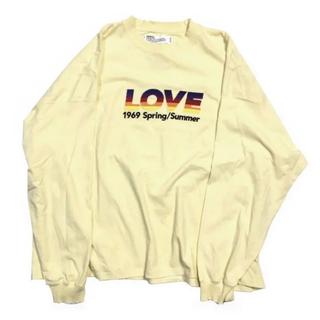 ジエダ(Jieda)のダイリク dairiku 21ss LOVE ロンT morning 刺繍T(Tシャツ/カットソー(七分/長袖))