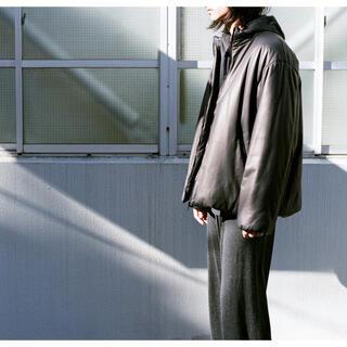 コモリ(COMOLI)のCOMOLI 21SS 新作ディアスキンインサレーションジャケット サイズ3新品(レザージャケット)