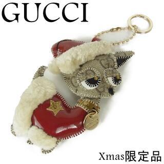 Gucci - グッチ グッチョリ PVC クリスマス 限定品 サンタ チワワ キーリング