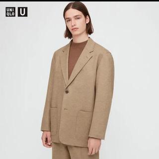 最終価格《新品タグ付き》ユニクロu ジャージーテーラードジャケット M ベージュ