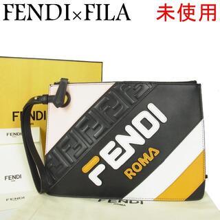 フェンディ(FENDI)のフェンディ×フィラ 未使用 マニア レザー クラッチ セカンド バッグ(クラッチバッグ)
