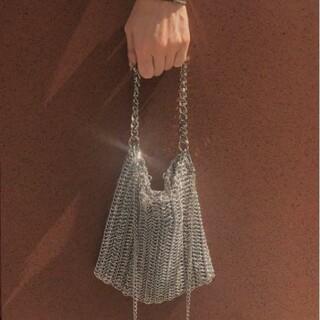 アメリヴィンテージ(Ameri VINTAGE)のアメリ チェーンバッグ シルバー HEAVY CHAIN MESH BAG(ショルダーバッグ)