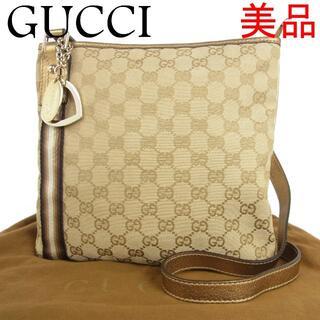 Gucci - グッチ 美品 シェリー GG キャンバス×レザー 斜め掛け ショルダー バッグ