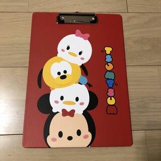 ディズニー(Disney)のディズニー ツムツム 赤 クリップボード(ファイル/バインダー)