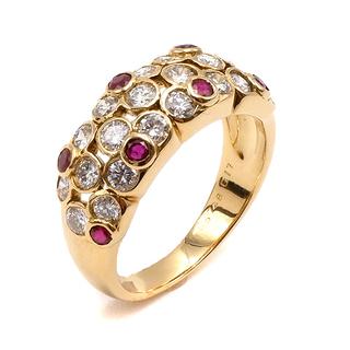 ヴァンクリーフアンドアーペル(Van Cleef & Arpels)のヴァンクリーフアーペル  リング 指輪  ルビー ダイヤリング   ゴー(リング(指輪))