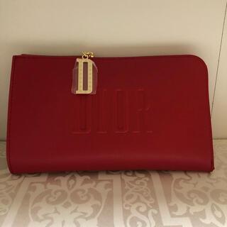 Dior - ディオール 限定 レッド クラッチ ポーチ 新品未使用