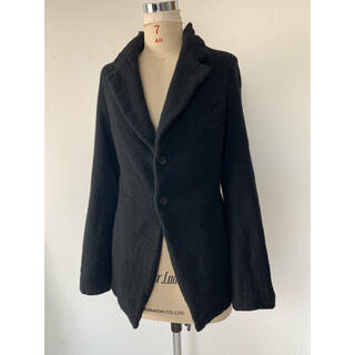 コムデギャルソン(COMME des GARCONS)のコムデギャルソン 2007 ウール縮絨 ジャケット ブラック(テーラードジャケット)