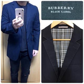 BURBERRY BLACK LABEL - バーバリーブラックレーベル ステッチ入りテーラードジャケットノバチェック【美品】