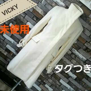 ビッキー(VICKY)のアンゴラコート(ロングコート)