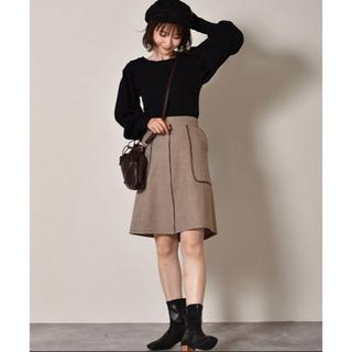 レトロガール(RETRO GIRL)のパイピングミディSK(ひざ丈スカート)