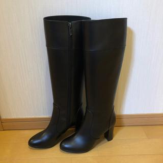 新品未使用 ダイアナ ブラック ブーツ サイズ23 1/2  日本製