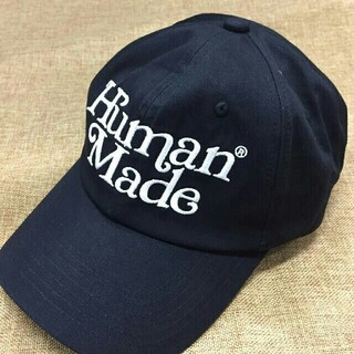 ジーディーシー(GDC)のgirls don't cry human made TWILL CAP 黒(キャップ)