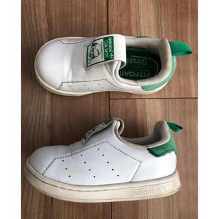 アディダス(adidas)のアディダス スタンスミス キッズ ベビー スニーカー 白 緑 13.0(スニーカー)