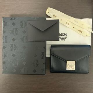MCM - 【エムシーエム MCM】財布 折りたたみ財布 三つ折り ウォレット ブラック