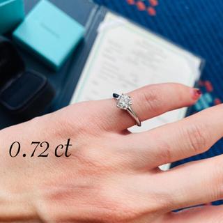 Tiffany & Co. - 大粒!ティファニー ダイヤリング 指輪 0.72