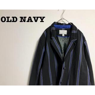 オールドネイビー(Old Navy)の古着 OLD NAVY オーバーサイズ テーラードジャケット ストライプ(テーラードジャケット)
