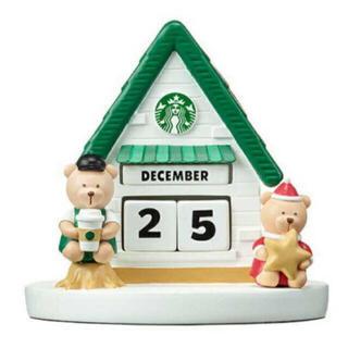 スターバックスコーヒー(Starbucks Coffee)の海外限定 スターバックス ベアリスタ フィギュア カレンダー(置物)