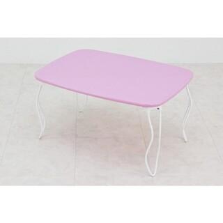 ♪可愛い猫脚♪ ✨マカロンカラー✨ 折りたたみ ニャンニャンテーブル(折たたみテーブル)