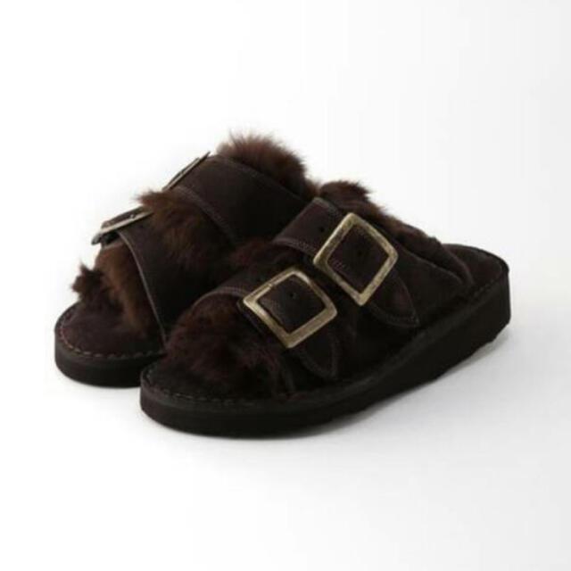 L'Appartement DEUXIEME CLASSE(アパルトモンドゥーズィエムクラス)の【CAMINANDO/カミナンド】FUR SANDAL  37 レディースの靴/シューズ(サンダル)の商品写真
