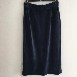 スタディオクリップ(STUDIO CLIP)の新品☆studio CLIP  ベロアタイトスカート M(ひざ丈スカート)