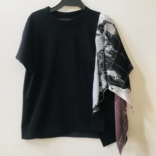 sacai - sacai 2020ss ワールドマップ Tシャツ サイズ1