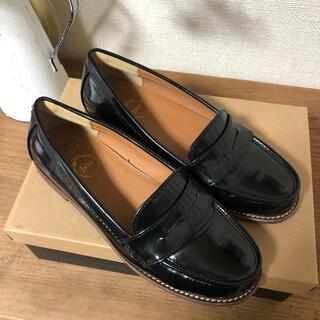 ハルタ(HARUTA)のHARUTA ハルタ ローファー パンプス 黒(ローファー/革靴)