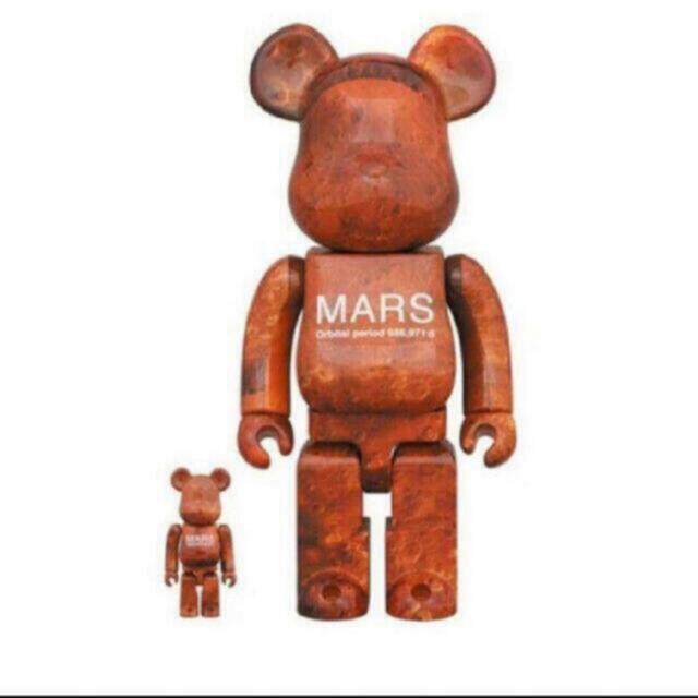 MEDICOM TOY(メディコムトイ)のMARS BE@RBRICK 100% & 400% 即発送可能 ハンドメイドのおもちゃ(フィギュア)の商品写真