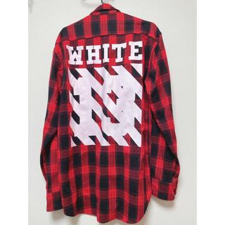 OFF-WHITE - チェックシャツ オフホワイト