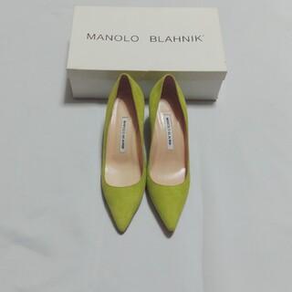 MANOLO BLAHNIK - manolo blahnik bbライムグリーンパンプス