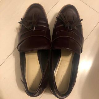 ザラ(ZARA)のZARA ローファー ボルドー 37(ローファー/革靴)