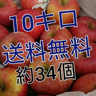 送料無料。会津産訳あり完熟リンゴ約34個。(フルーツ)