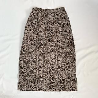 サンタモニカ(Santa Monica)のUSED 古着 レオパード柄スカート(ロングスカート)