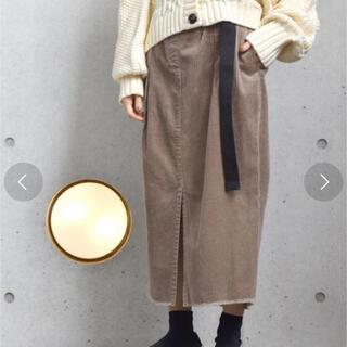 ダブルクローゼット(w closet)のコーデュロイスカート 新品未使用(ロングスカート)