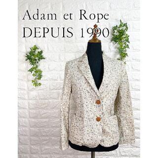 アダムエロぺ(Adam et Rope')の223 アダムエロペ 総柄 コーデュロイ ジャケット シャツ 長袖 S(テーラードジャケット)
