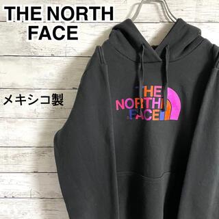ザノースフェイス(THE NORTH FACE)の【激レア】ザノースフェイス☆ビッグロゴ ブラック パーカー フーディ メキシコ製(パーカー)